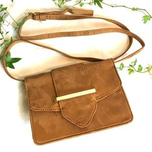 Handbags - NEW! Cross body Camel Tan Purse Bag on suede